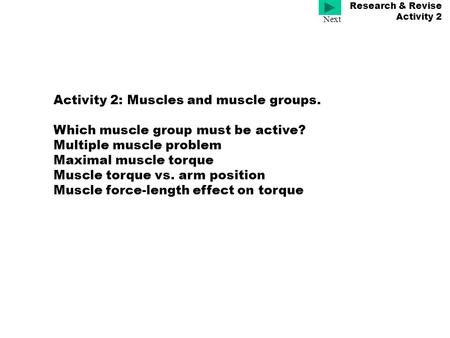 Research & Revise Activity 2