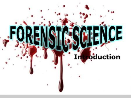 Introduction. What is forensic science? The science that is applied to the law and criminal proceedings. It applies the knowledge and technology of science.