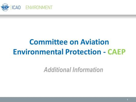 Committee on Aviation Environmental Protection - CAEP