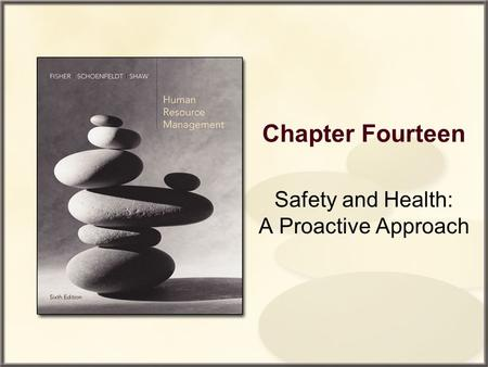 Chapter Fourteen Safety and Health: A Proactive Approach.
