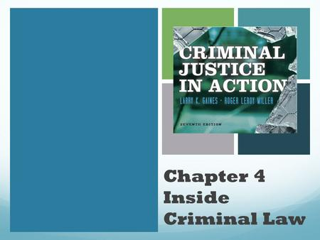 Chapter 4 Inside Criminal Law