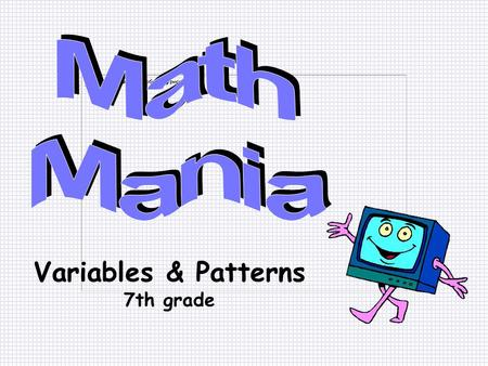 Variables and patterns homework help