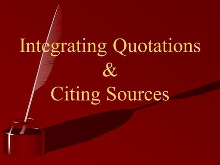 Incorporating quotes into essay