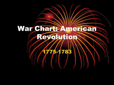 "War Chart: American Revolution 1775-1783. Causes Repressive Acts by British (pp. 46-49 in your book) Stamp Act Mercantilism Tea Tax (and Party) ""Taxation."