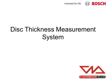 Disc Thickness Measurement System. NI Based Measurement System NI 9215 4-Channel, 100 kS/s, 16-bit, ±10 V Simultaneous Sampling Analog Input Module.