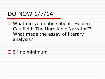 The style of your literary analysis essay should be