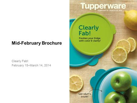 Mid-February Brochure Clearly Fab! February 15–March 14, 2014.