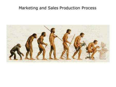 Marketing and Sales Production Process. Summary 3 Phases Conceptual Production Execution Roles Sponsor, Producer, Analyst, Senior Executive, Executive,