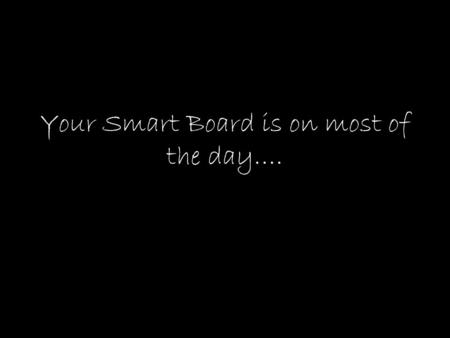 Your Smart Board is on most of the day….. Why not use the space for learning?