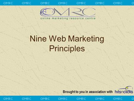 Brought to you in association with Nine Web Marketing Principles.