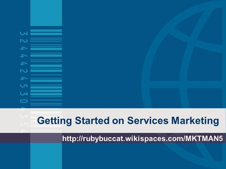 Getting Started on Services Marketing