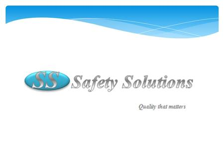 Introduction  Safety Solutions offers evaluation and training services tailored to prevent lost work time due to accidents and injuries.  We will.