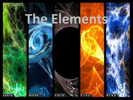 The Elements. The Cards 地 : Earth 水 : Water 火 : Fire 風 : Air 空 : Void/Spirit.