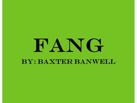 Fang By: Baxter Banwell. Food The main food they eat is different kinds of rice dishes. The bird kids help the African people farm and get food. The little.