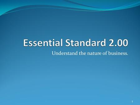 Understand the nature of business. 1. Understand applications and issues of technology. 2.