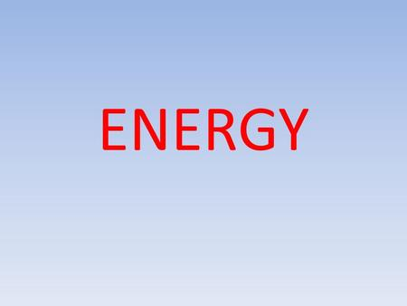 ENERGY. The body needs energy to survive The only form of energy the body uses is called 'ATP' There are 3 (energy systems) ways in which the body can.