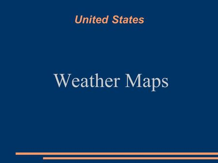 United States Weather Maps. How to Read a Surface Map Surface maps depict the large-scale elements of the weather. These elements include high and low.