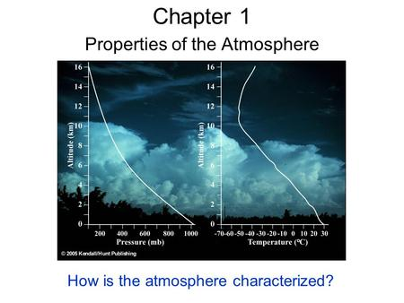 Chapter 1 Properties of the Atmosphere How is the atmosphere characterized?
