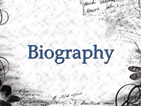 Biography. Biography bi·og·ra·phy : n. pl. bi·og·ra·phies An account of a person's life written, composed, or produced by another.
