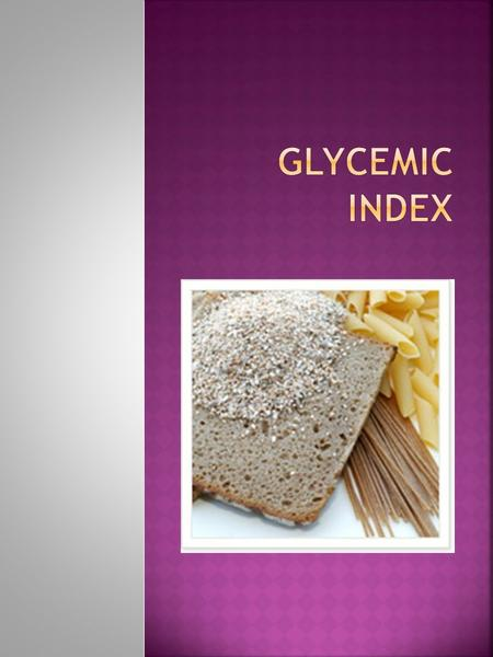  The glycemic index (GI) is a scale from 1-100 that ranks carbohydrate-rich foods by how much they raise blood glucose levels. Some carbohydrate foods.