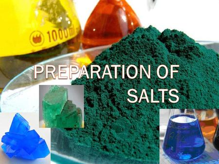 What is a salt?  A compound formed when the hydrogen ions of an acid are partly or completely replaced by a positive ion (usually a metal).  Hence a.
