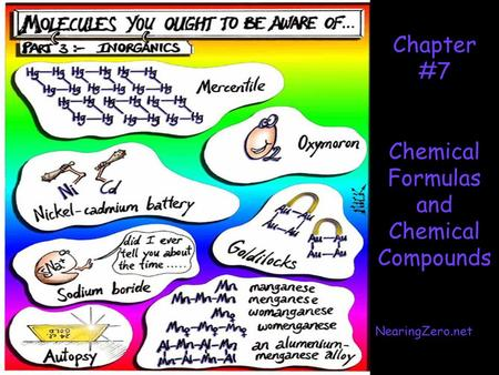 Chapter #7 Chemical Formulas and Chemical Compounds NearingZero.net.