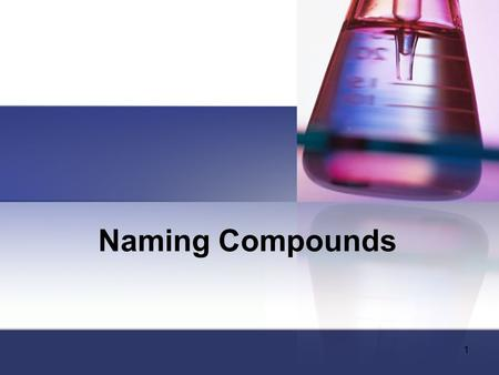 Naming Compounds 1. Molecules and Molecular Compounds (Covalent Compounds) Two or more atoms tightly bound together Bond by a covalent bond – the sharing.