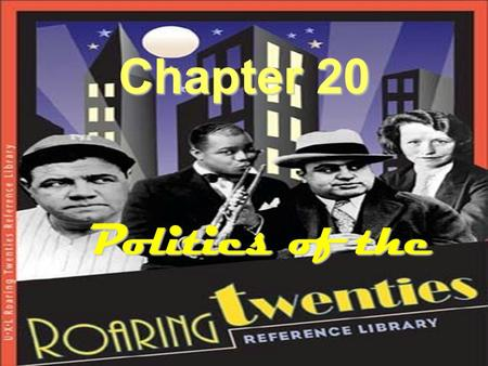 Chapter 20 Politics of the. There are two distinct beliefs that began to surface in America.