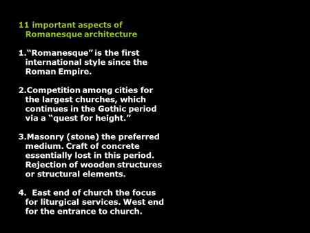 11 important aspects of Romanesque architecture