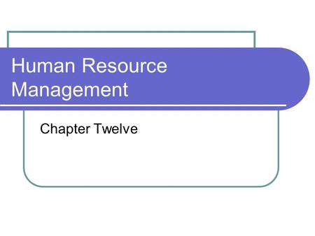 improving human resources