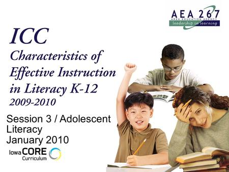 Session 3 / Adolescent Literacy January 2010. Teaching Inductively.