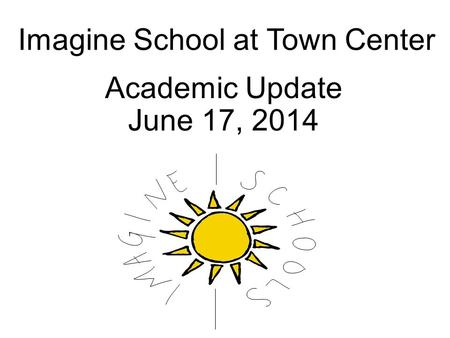 Imagine School at Town Center Academic Update June 17, 2014.