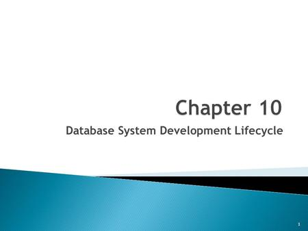 Database System Development Lifecycle 1.  Main components of the Infn System  What is Database System Development Life Cycle (DSDLC)  Phases of the.