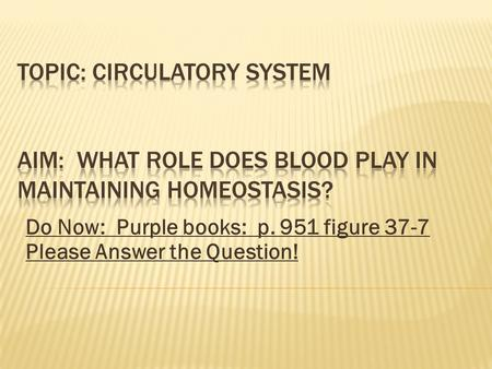 Do Now: Purple books: p. 951 figure 37-7 Please Answer the Question!