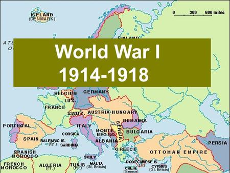 World War I 1914-1918 World War I 1914-1918. Causes of the war (long-term) Nationalism Nationalism Imperialism Imperialism Alliances Alliances Military.