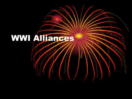 WWI Alliances. M.A.I.N. Causes of WWI Militarism A country builds up its weapons and military May not use it Alliance System Countries agree to help each.