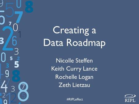 Creating a <strong>Data</strong> Roadmap Nicolle Steffen Keith Curry Lance Rochelle Logan Zeth Lietzau.