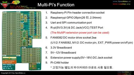 Copyright 2013 by openmakecc Introduction to MultiPi Raspberry – Rp1 Wagner Electric Motor Wiring Diagram