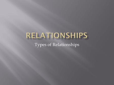 Types of Relationships.  Talk about your feelings.  Respecting each other's friends and activities.  Considering the other person's opinions and feelings.