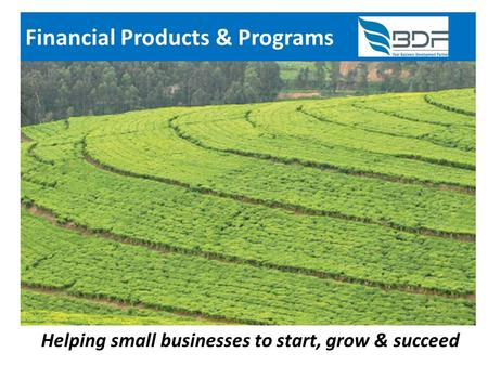 Financial Products & Programs Helping small businesses to start, grow & succeed.