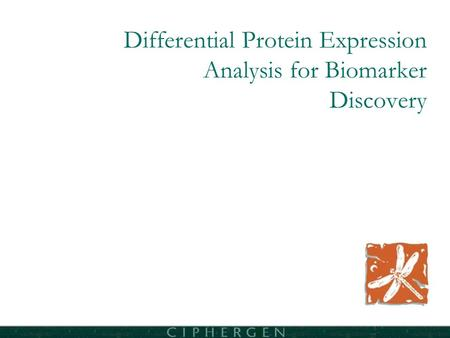 Differential Protein Expression Analysis for Biomarker Discovery.