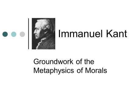 summary of immanuel kants life essay