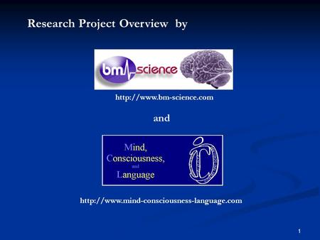 1   and Research Project Overview by.