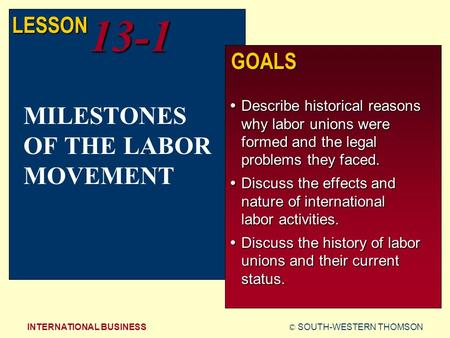 an introduction to the history of labor union I introduction labor unions have existed in the united states for over two hundred years in the late 1700s and 1800s, craft guilds consisting of skilled artisans regulated apprenticeship programs and maintained professional standards 2 by the mid-1800s, more expansive labor organizations were formed to advance the interests of workers.