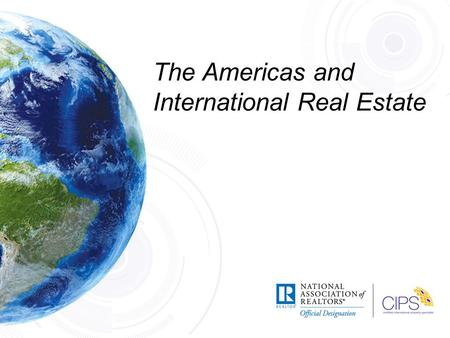 The Americas and International Real Estate. FORWARD Page 1.