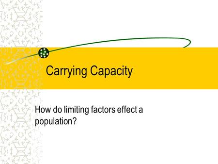 How do limiting factors effect a population?