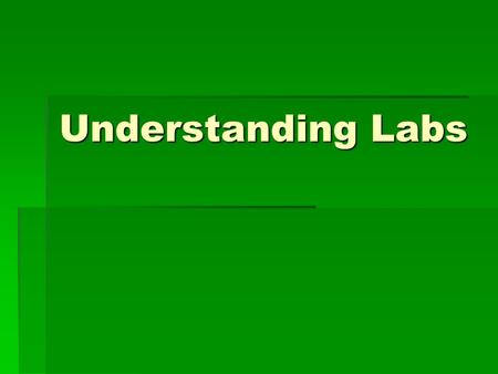 Understanding Labs. Objective/Agenda  Objective: I can record and present experimental data in a neat, clear, organized manner.  Agenda  Go over lab.