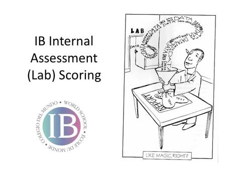 IB Internal Assessment (Lab) Scoring. DCP- Aspect 1 Concluding Complete/2 States a conclusion, with justification, based on a reasonable interpretation.