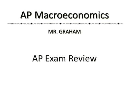 AP Exam Review AP Macroeconomics MR. GRAHAM. 2 Unit 2: Measurement of Economic Performance (12-16%) Unit 2: Measurement of Economic Performance (12-16%)