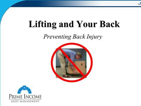 Preventing Back Injury